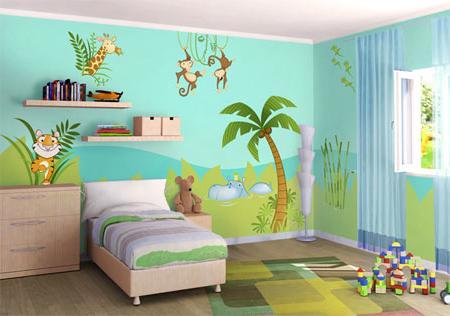 Pintura en dormitorios infantiles pintor jerez - Pinturas originales para dormitorios ...